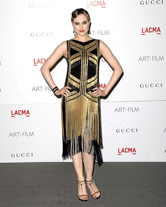 Evan Rachel Wood joue le total look 20's