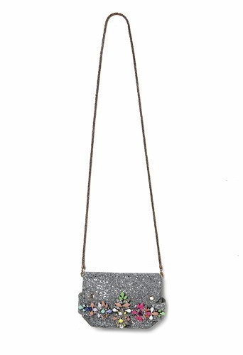 Sac orné de cristaux Swarovski multicolores, Shourouk aux Galeries Lafayette, 750 €