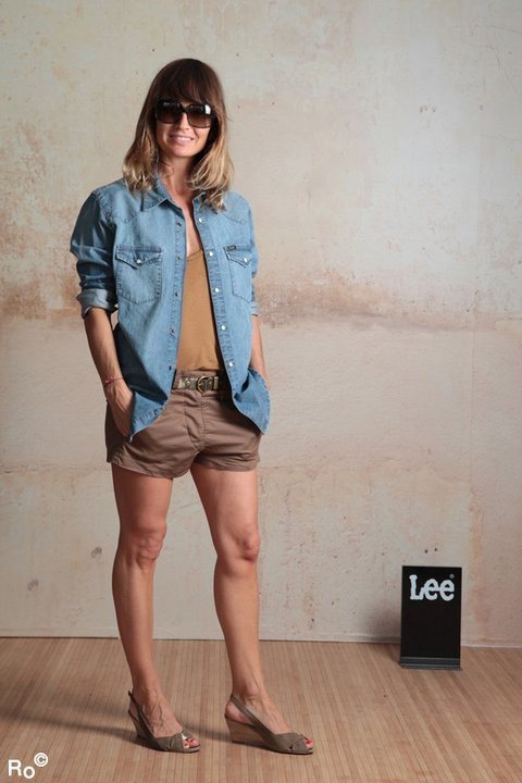Mode : Axelle Laffont prend la pose pour Lee pendant le Festival de Cannes 2011 !