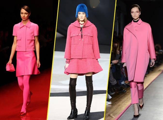 "Le ""hot pink"" (Jasper Conran, Chanel, Cédric Charlier) AH13/14"