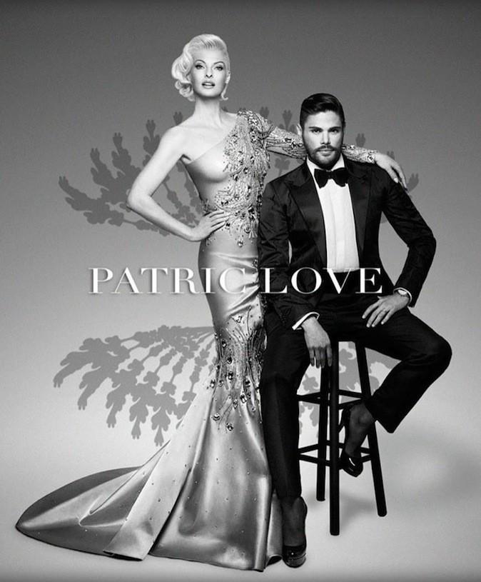 Linda Evangelista pose avec Prince Julio Cesar, le designer de Patric Love, pour la campagne printemps 2014 !