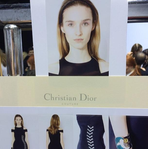Manuela Frey pour le défilé Dior