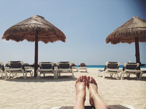 Nastya Sten en vacances à Mexico depuis que la Fashion Week est finie