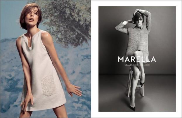 Mode : Marella : la marque fait encore une fois confiance à Milla Jovovich pour sa campagne printemps-été 2014 !