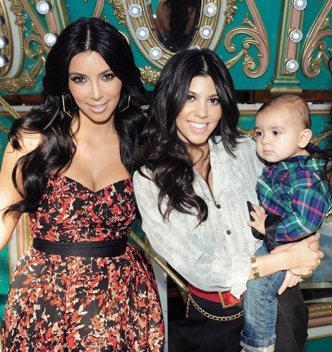 Kim, Kourtney et Mason