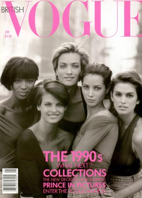 La couverture du Vogue UK de 1990 qui a inspirée celle de Vogue Japan !