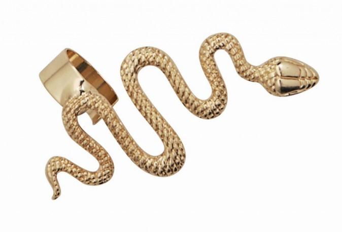 Bague d'oreille en métal doré, Afwosh 12,50 €