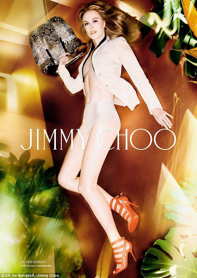 Nicole Kidman pour Jimmy Choo Printemps-Eté 2014.