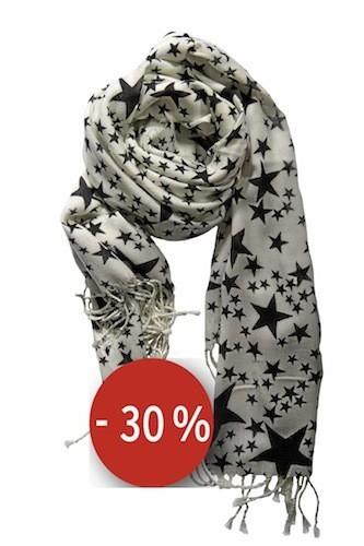 Écharpe étoiles sur mollybracken.com