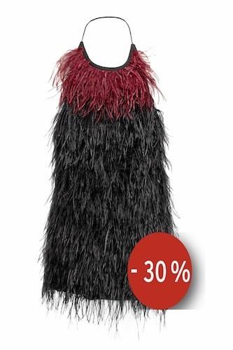 Mini-robe dos nu ornée de plumes sur asos.com