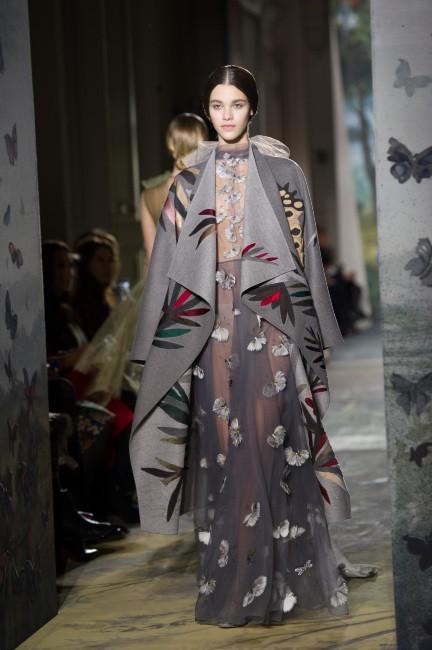 La robe à papillons Valentino présentée lors de la dernière Fashion Week !