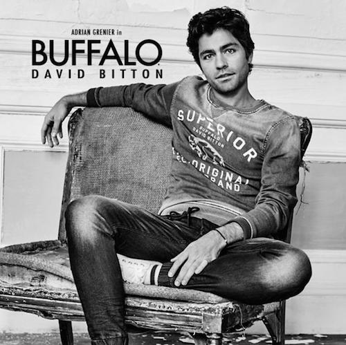 Mode : Photos : Adrian Grenier : sexy, il choisit Buffalo pour ses premiers pas d'égérie !