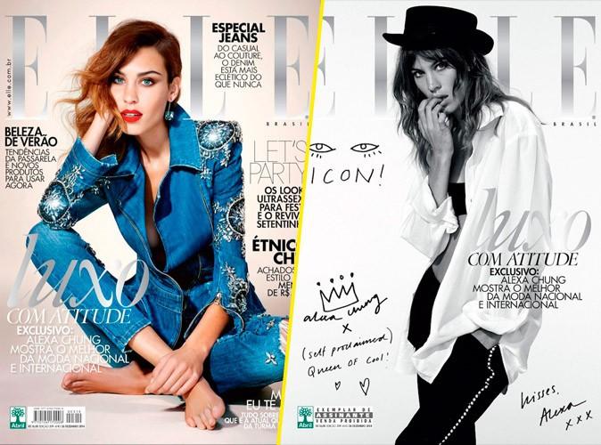 Mode : Photos : Alexa Chung : elle s'offre deux couvertures de ELLE !