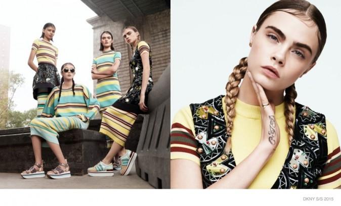Mode : Photos : Cara Delevingne : intello cool pour DKNY !