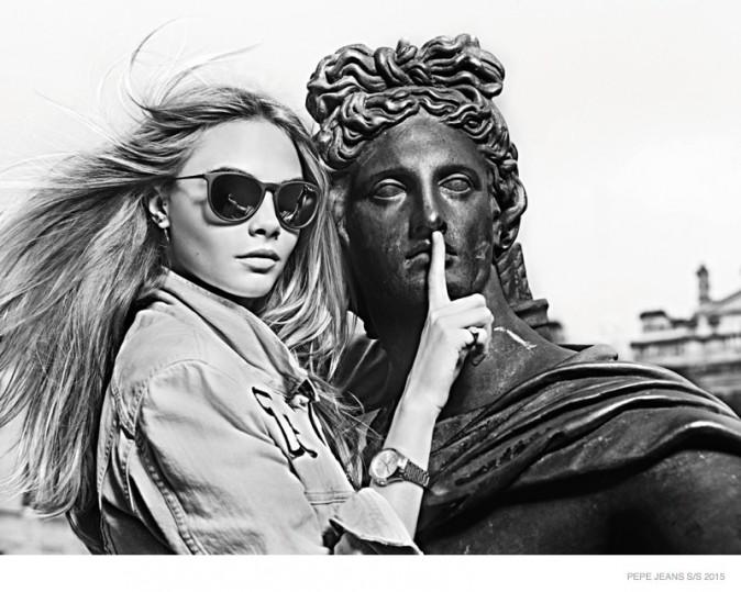 Mode : Photos : Cara Delevingne : rebelle et espiègle pour Pepe Jeans !