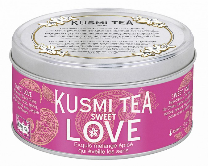 Thé noir, Sweet Love, Kusmi Tea, 16€