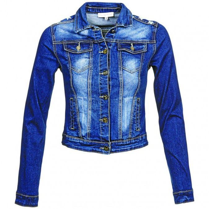 L'esprit 90's : Veste en jean, Moony Mood chez Spartoo 29,99€