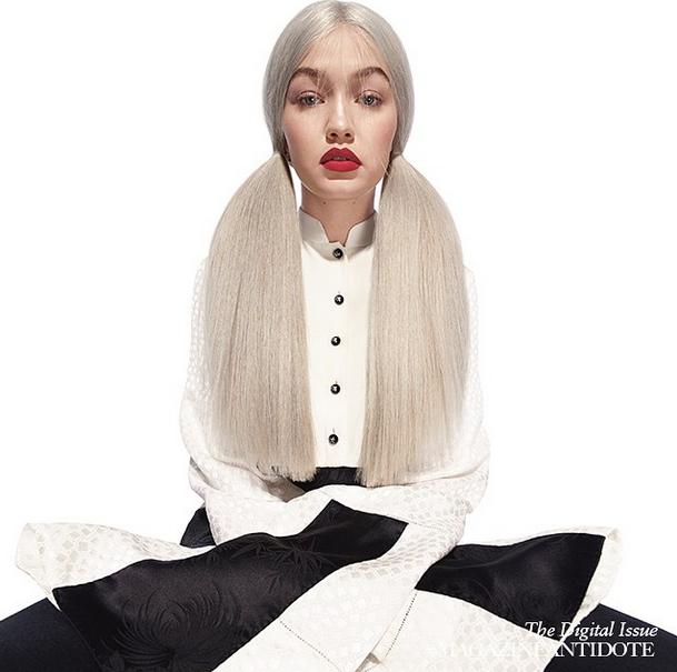 Mode : Photos : Gigi Hadid : elle adopte les cheveux gris pour le magazine Antidote !