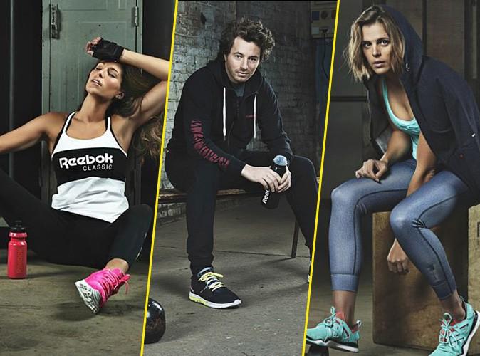 Mode : Photos : Laury Thilleman : sportive sexy pour Reebok, elle se partage la vedette avec Laure Manaudou et Jean Imbert !