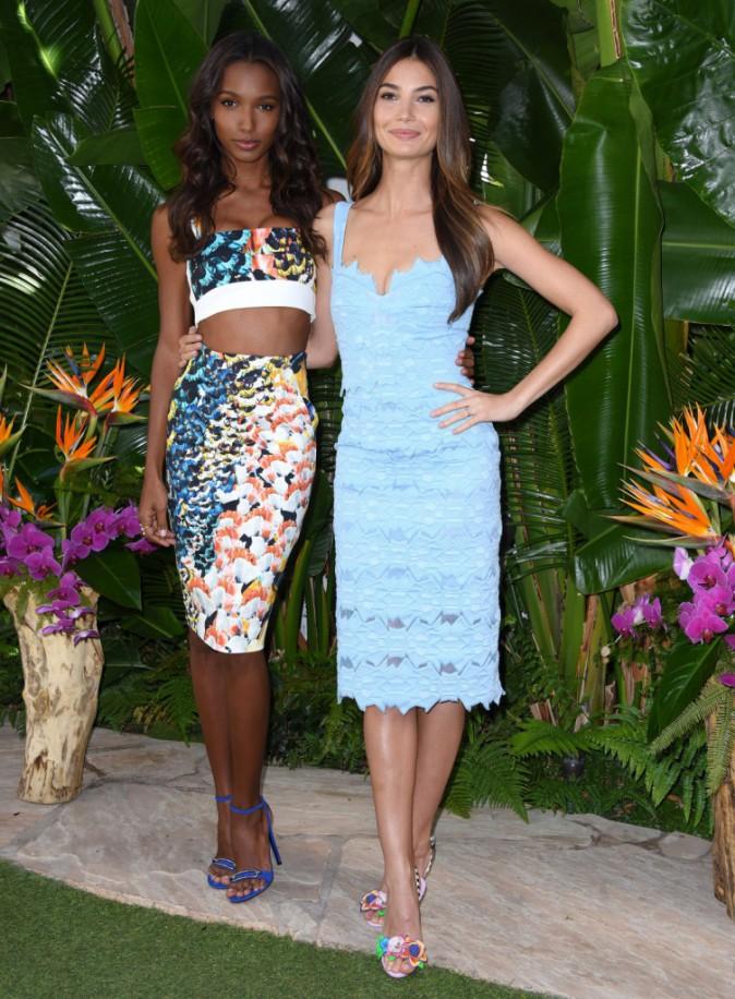 Mode : Photos : Lily Aldridge et Jasmine Tookes : complices et sexy à L.A pour Victoria's Secret !