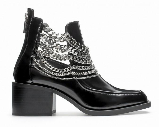 Boots avec chaînes, Zara 39,95€