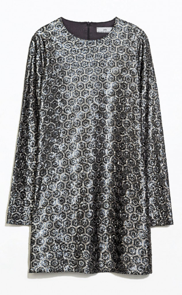 Robe à sequins, Zara 59,95 €