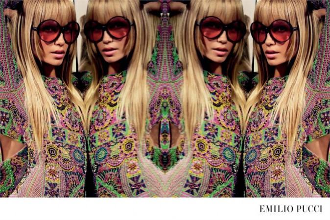 Mode : Photos : Natasha Poly : égérie 70's pour la campagne psychédélique d'Emilio Pucci !