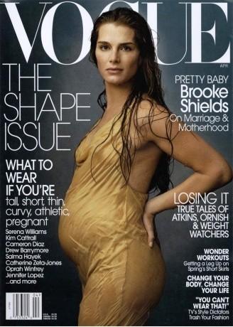 Brooke Shields, enceinte en 2003