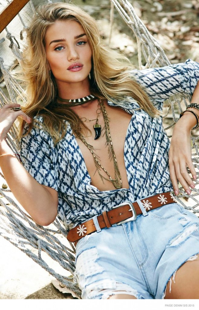 Mode : Photos : Rosie Huntington-Whiteley, une bombe sous le soleil californien pour Paige Denim.