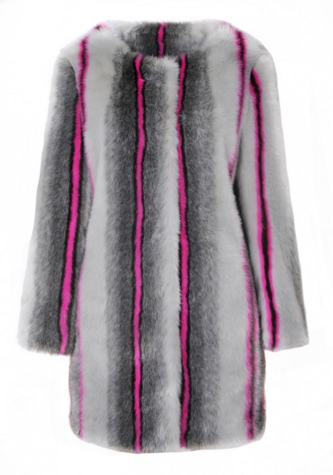 Nuances de gris et rayures roses Topshop 115 €