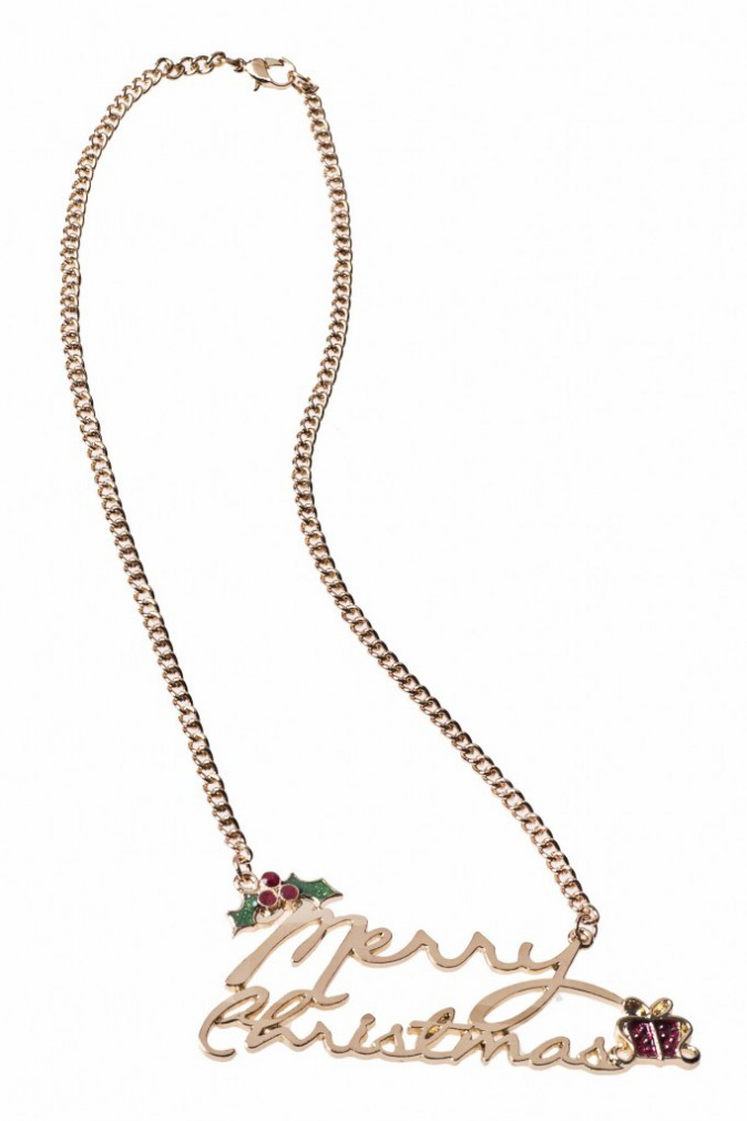 Collier Merry Christmas, Claire's 6,99€