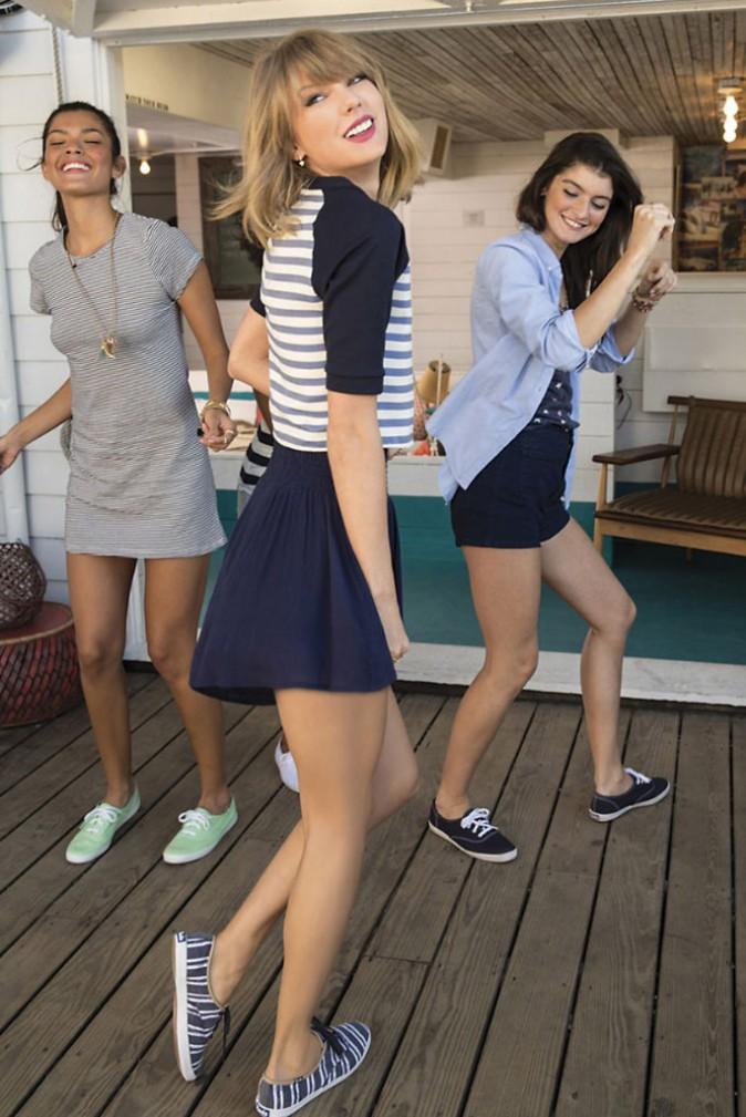 Mode : Photos : Taylor Swift : rayonnante et espiègle pour la nouvelle campagne Keds !