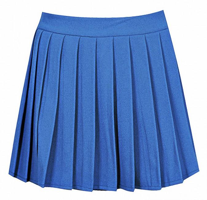 Jupe plissée bleue, Nadia Aboulhosn x boohoo.com 15 €