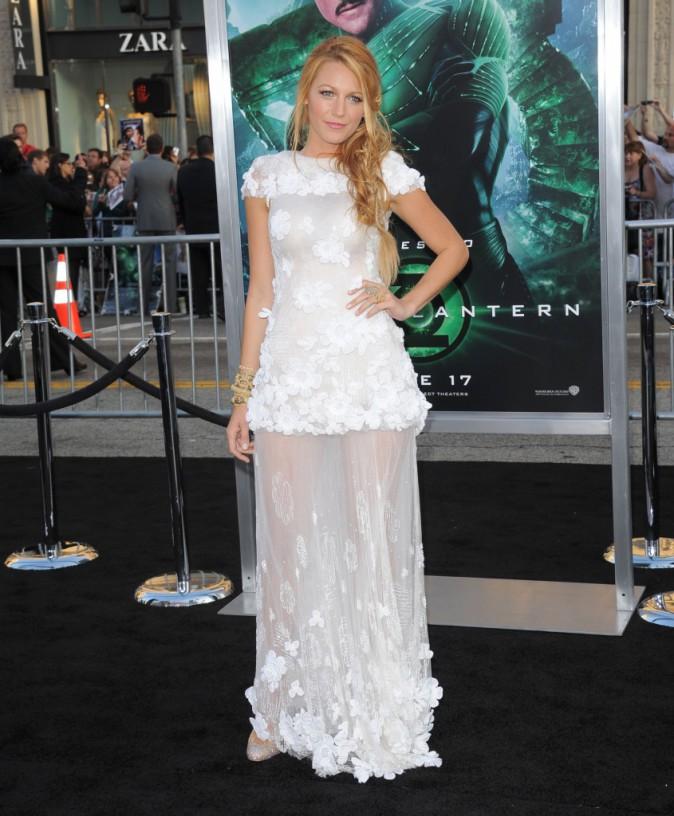 Blake Lively et sa robe Chanel lors de la première du film Green Lantern en mai 2011.