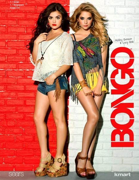 Lucy Hale et Ashley Benson pour la nouvelle collection de Bongo