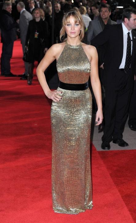 Robe Ralph Lauren Collection pour la première d'Hunger Games à Londres
