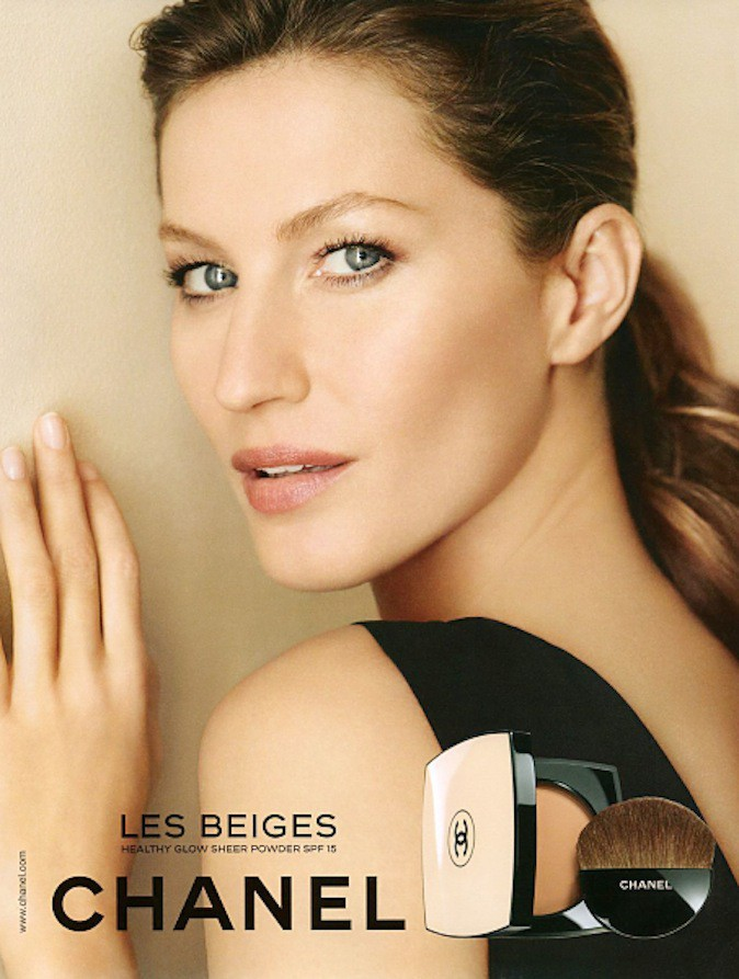 Gisele Bundchen pour Chanel beauté !