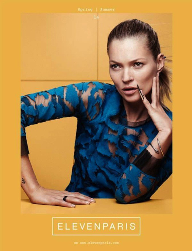 Kate Moss pour Eleven Paris !