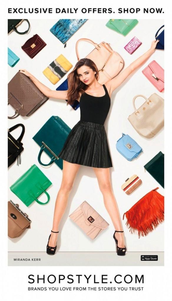 Miranda Kerr pour ShopStyle !