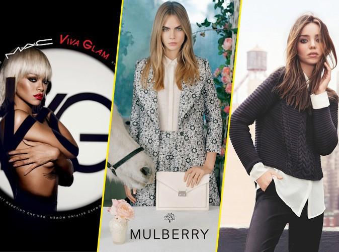 Rihanna, Cara Delevingne, Miranda Kerr... Ces multi-égéries de 2013 !