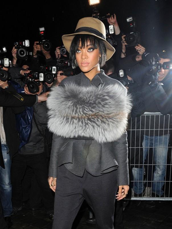 Rihanna au défilé Lanvin