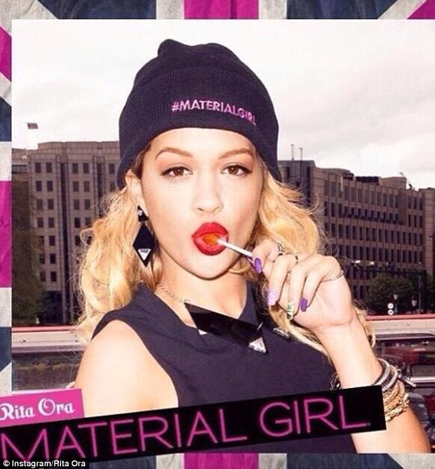 Rita Ora pour Material Girl.