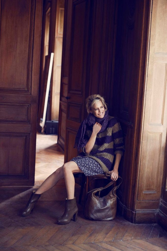 Robin Wright pour Gerard Darel : le pull Marilyn en version rayée !