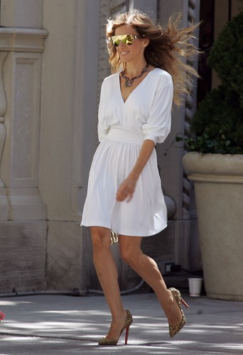 L'interprète de Carrie Bradshaw à la belle époque où elle pouvait encore porter des talons hauts !