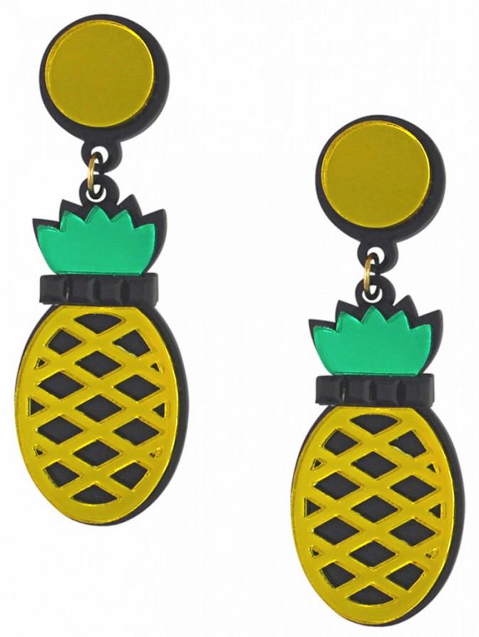 Boucles d'oreilles ananas, Jennifer Loiselle, sur boticca.fr 53€