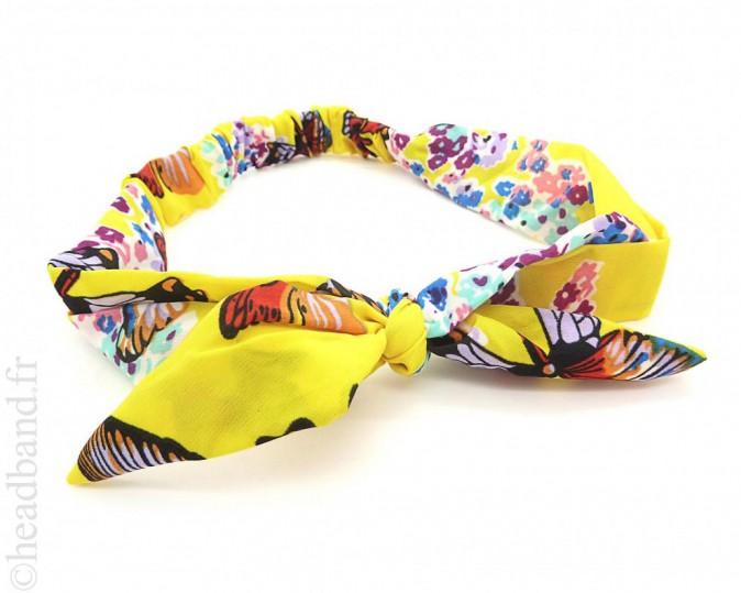 Imprimé papillons, Headband 5€