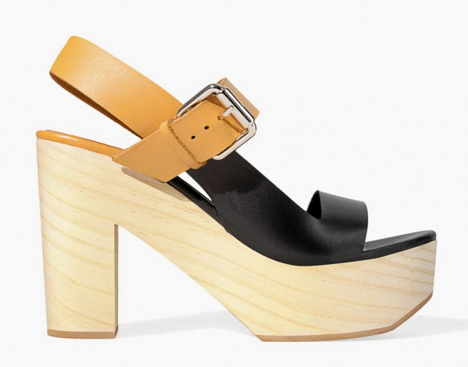 En cuir bicolore, Zara, 49,95€