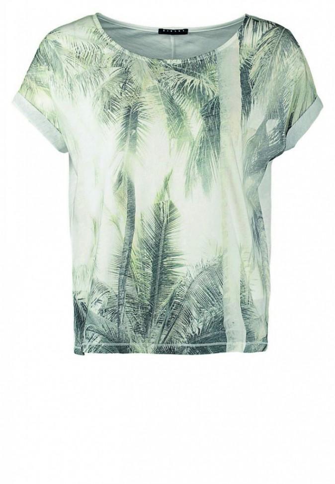 T-shirt imprimé palmiers, Sisley 16€