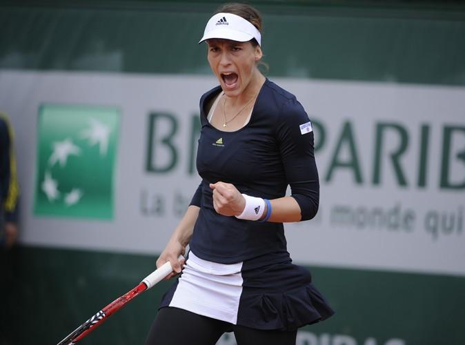 L'internationale allemande Andrea Petkovic à Roland Garros porte les créations de Stella McCartney.