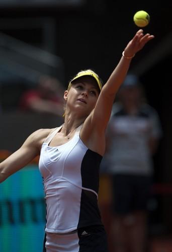 L'internationale russe Maria Kirilenko portait déjà les créations de Stella McCartney pour le Madrid Tennis Open début mai.